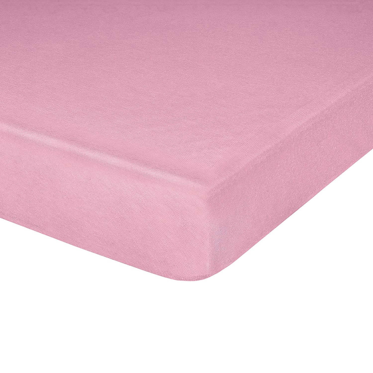 """Jersey Knit Crib Sheet with Fitted Stretch, Standard Baby and Toddler Mattress, 52"""" x 28"""" x 8"""", Pink, Pack of 1"""