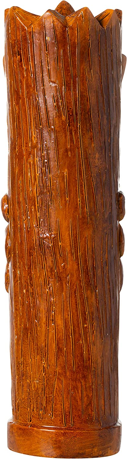 Kegerators or Bars Hawaiian Style Blue Accent Tiki Totem Pole Full Size 9.5 Beer Tap Handle Pull for Homebrew