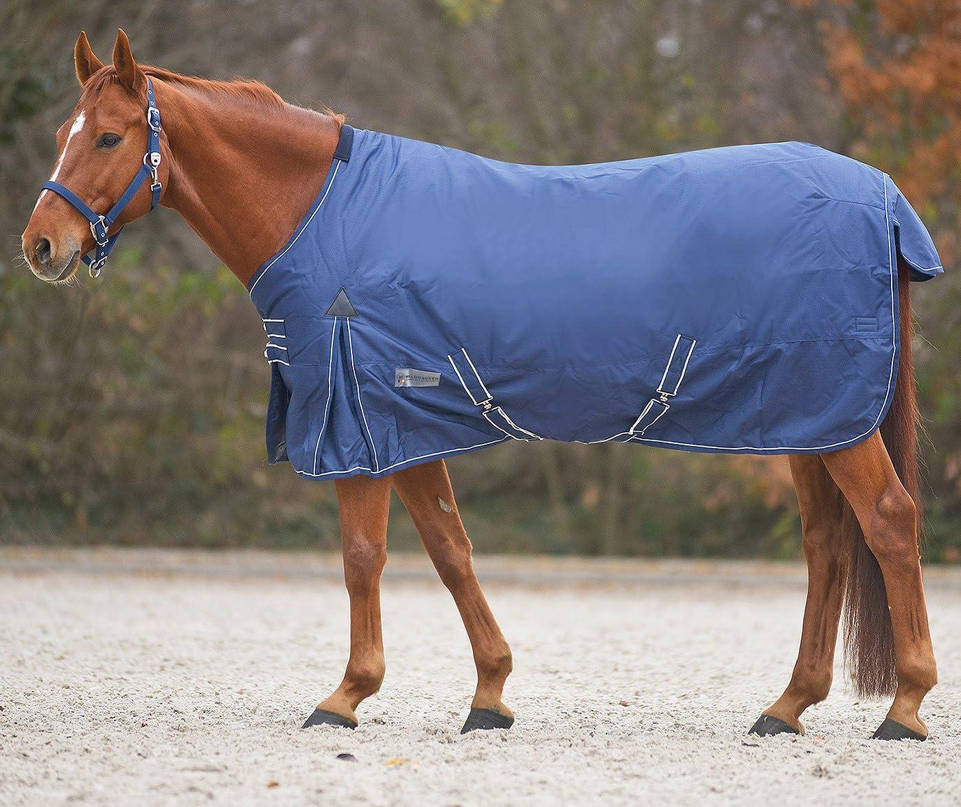 Caballo-techo al aire libre de mimbre manta de invierno 100 G impermeable transpirable Cruz + correa de la cola con peto, 165 Gr.