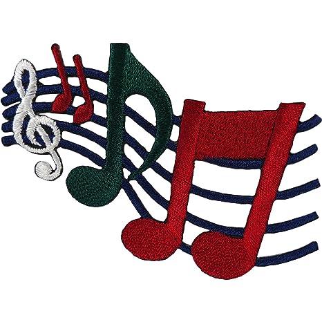 Parche de notas musicales para coser o planchar en la ...