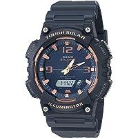 Casio Solar Powered Quartz Resin Strap, Black, 28.4 Casual Watch (Model: AQ-S810W-2A3VCF)