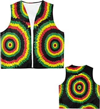 WIDMANN Casa del Disfraz Chaleco Rastafarian para Adulto: Amazon ...