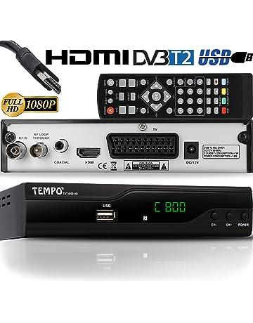 Tempo 4000 Decodificador Digital Terrestre – DVB T2 / HDMI Full HD / Canales Sintonizador /