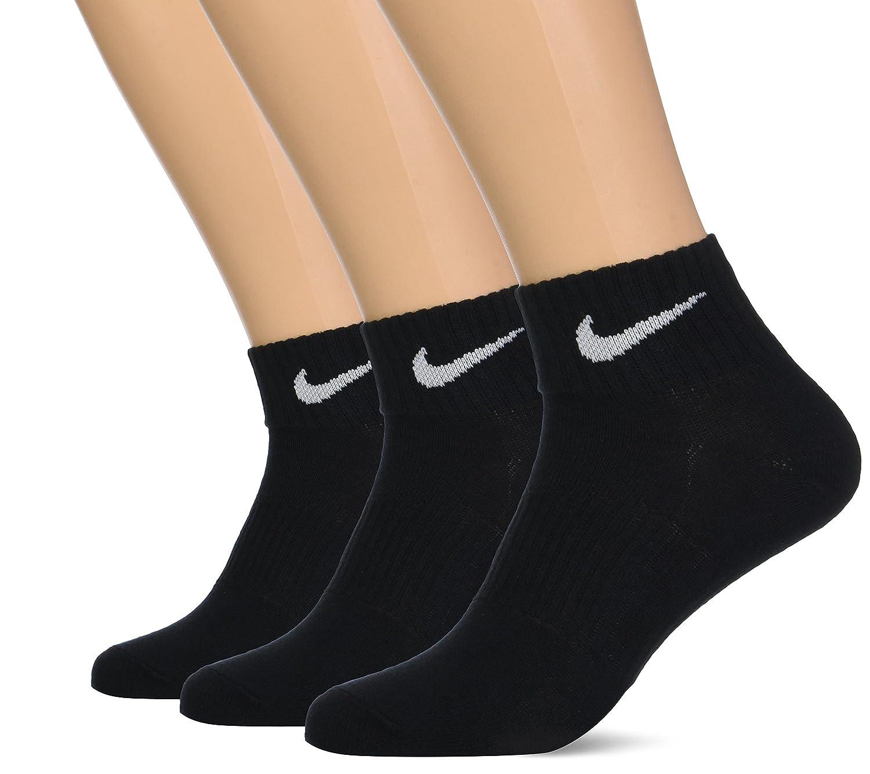 Nike軽量Quarter Socks B00AV5VH0Q Large|ブラック ブラック Large