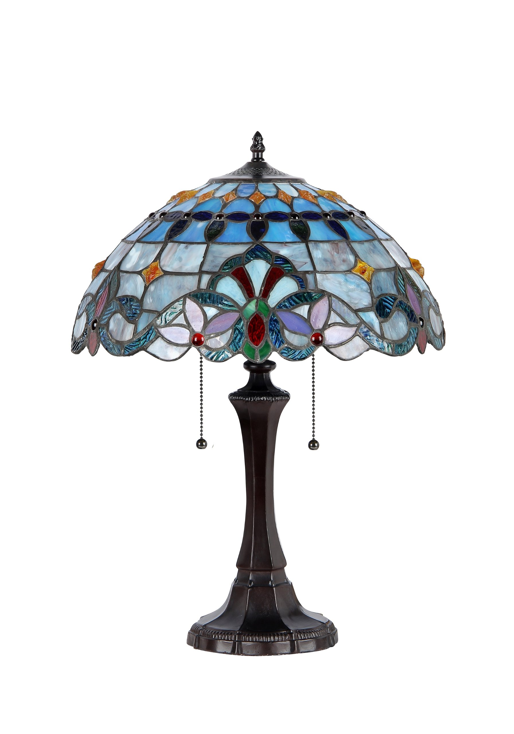 Chloe Lighting CH33381VB16-TL2  Grenville Tiffany-Style Victorian 2 Light Table Lamp 16-Inch Shade by Chloe Lighting