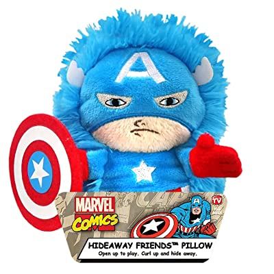 "MARVEL Captain America 5"" Plush Hidaway Character Pillow, 5"" 5 inch (JFE22434WCCD): Home & Kitchen"