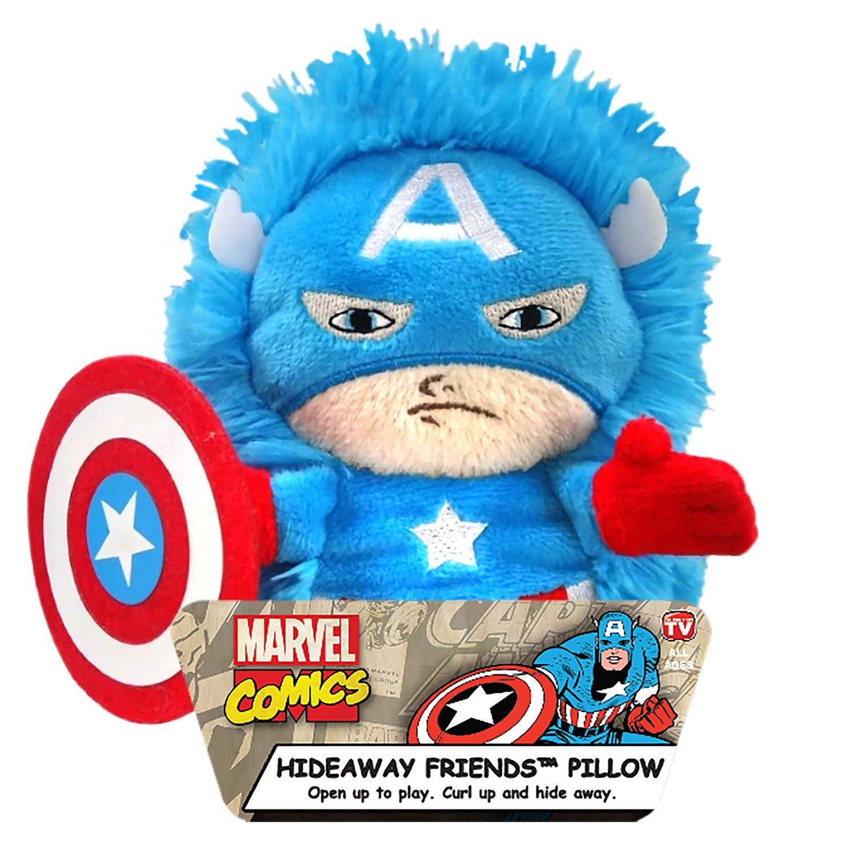 Children/'s Branded Character Shaped Plush Cushion Marvel Avengers