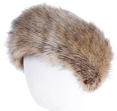 ac039cfd412 Soul Young Women s Faux Fur Headband with Stretch Winter Earwarmer  Earmuff(Nature)  Amazon.co.uk  Clothing