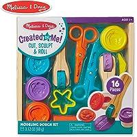 Melissa & Doug creado por mí! Kit de masa de modelado de corte, esculpir y rollo con 8 herramientas y 4 colores de masa de modelado