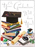 Greeting Card (JJ4214) Graduation - Stacks of Books - Foil Embossed Finish