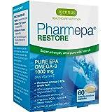 Pharmepa RESTORE Pure EPA Omega-3 Fish Oil, Triple Strength 1000mg EPA Omega-3, Pharmaceutical-grade Wild Fish Oil, High Potency & Maximum Absorption, for heart, brain function and mood, 60 caps