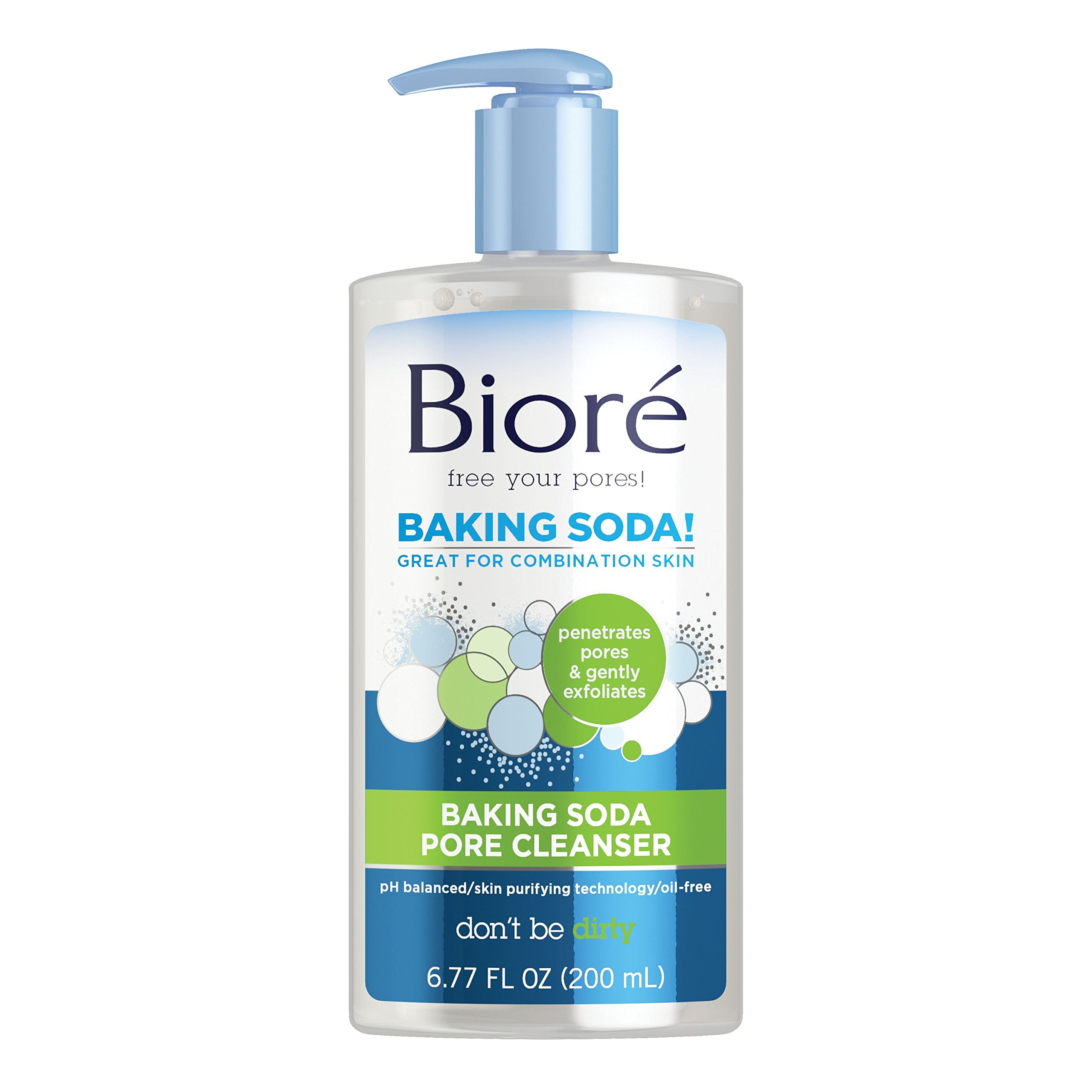 Biore Baking Soda Pore Cleanser for Combination Skin, 6.77 Ounces