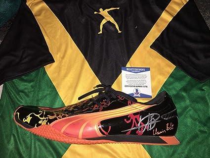 e8a67c2f360c7 Amazon.com: Usain Bolt Signed Official Street Yaam Bolt Model Shoe ...