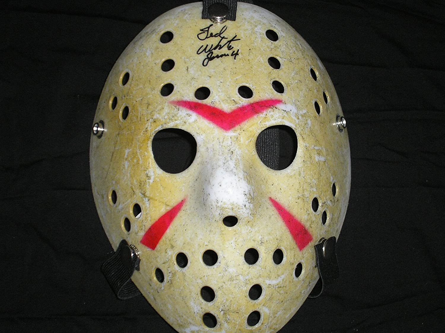 TED WHITE Signed Hockey Mask Jason Voorhees Friday the 13th Part 4