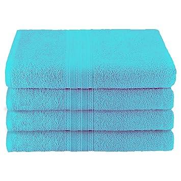 Superior - Juego de toallas sábana de baño ecológicamente puras, de algodón, color turquesa, 86,4 x 172,7 cm, 2 piezas: Amazon.es: Hogar