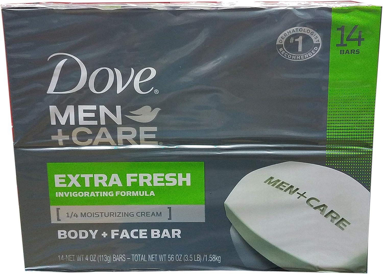 Dove Men + Care Extra Fresh Bar Soap, 14 Count, 56 Ounce