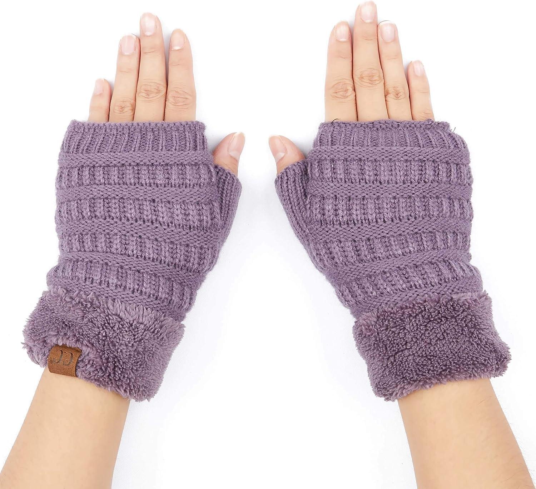 C.C Fingerless Gloves Fuzzy...