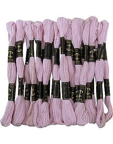 Anchor de hilo de algodón trenzado de la seda de punto de cruz bordado a mano