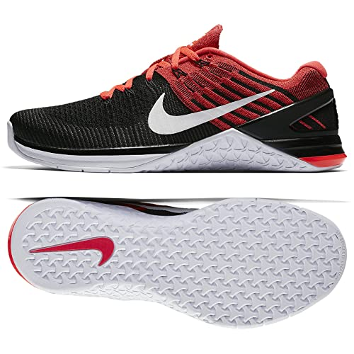 3177fd3b2ebf Nike Metcon DSX Flyknit Size 10 Mens Cross Training Black White-Bright  Crimson-Gym Red Shoes  Buy Online at Low Prices in India - Amazon.in
