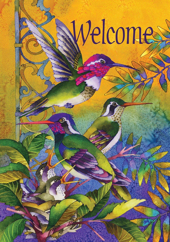 "Toland Home Garden 109459 Hummingbird Home 28 x 40 Inch Decorative, House Flag (28"" x 40"")"