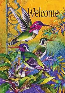 """Toland Home Garden 119459 Hummingbird Home 12.5 x 18 Inch Decorative, Garden Flag (12.5"""" x 18"""")"""