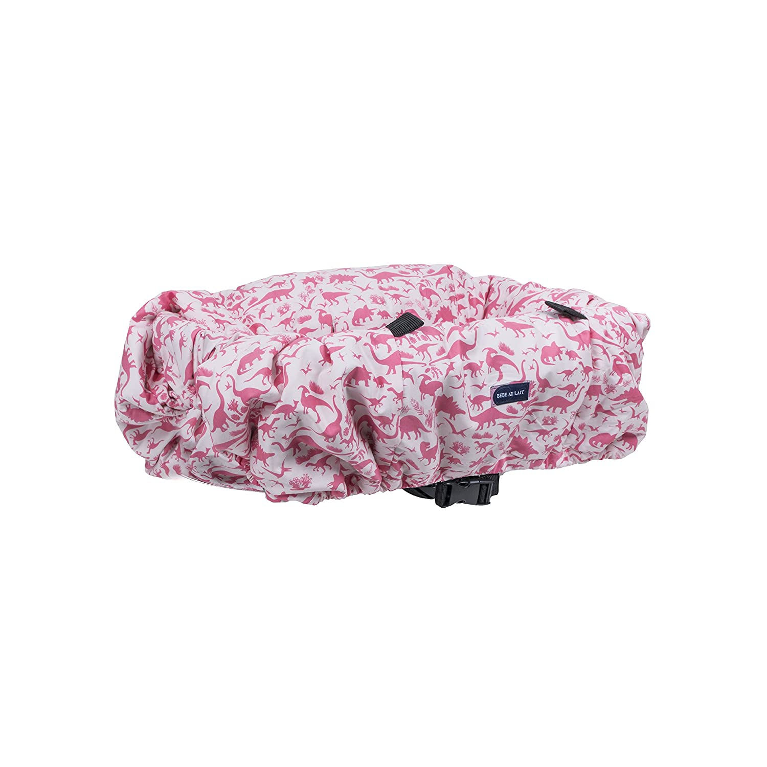 Bebe au Lait Shopping Cart Cover Dinorama, Pink SCBCDR