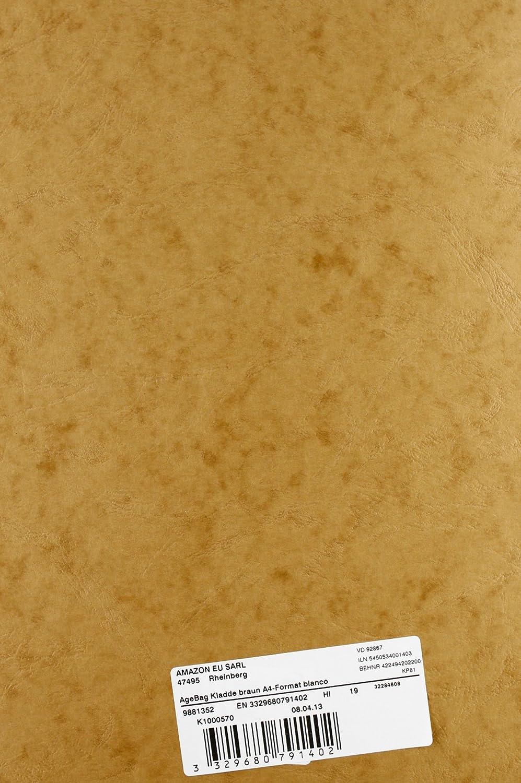 19 x 25 cm, 96 Blatt, liniert, bedruckten Vorsatubl/ättern 1 St/ück schwarz Clairefontaine 792461C AgeBag Notizbuch