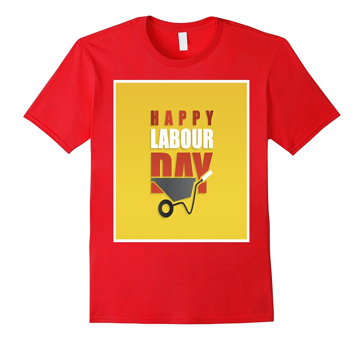 Happy Labour Day with Concrete Hand Trolley T-Shirt-BN
