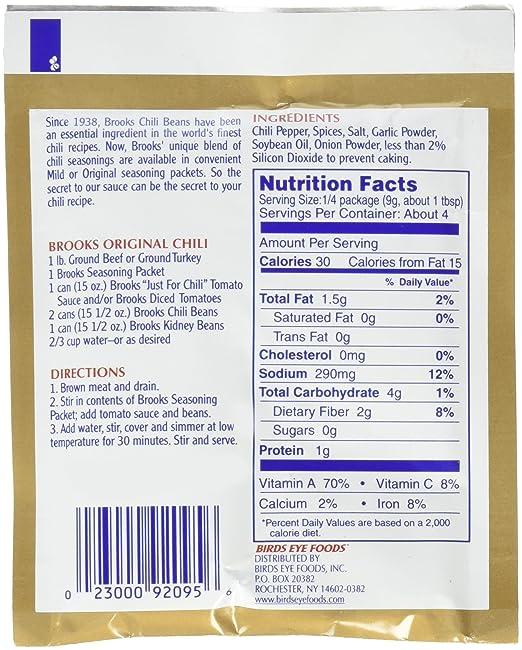 Brooks Secret Chili Condimento Original 1 25 Ounce Paquetes 24 Unidades Amazon Com Grocery Gourmet Food