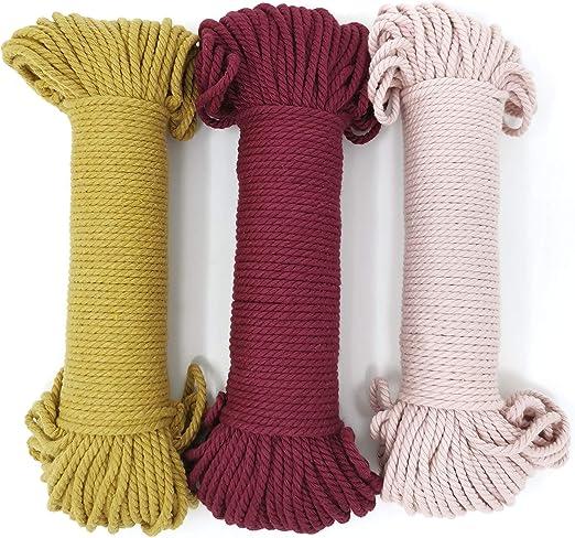 Cuerda de algodón de 3 mm cada una de 50 metros de largo, color ...