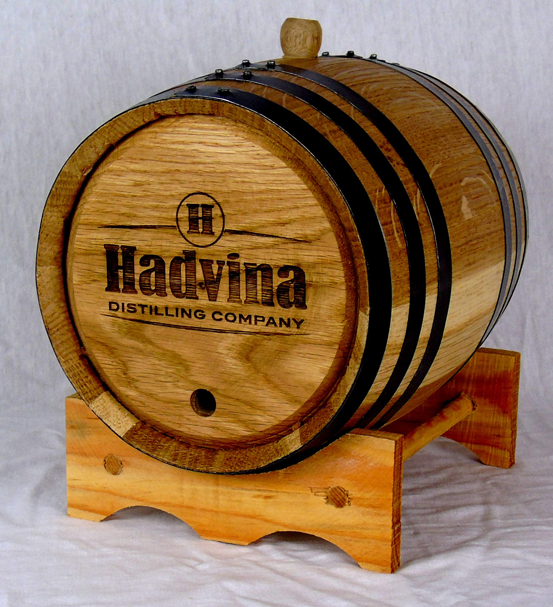 Personalized Engraved White American Oak Aging Barrels RHB135 (20 Liter)