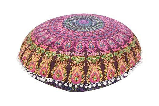 mandala pillows large floor cushions decorative throw indian pouf round ottoman