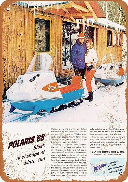 VINTAGE MOTO SKI 1968 SNOWMOBILE BANNER