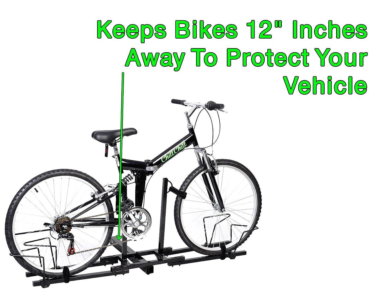 Que permite a tener 2 bicicletas en cualquier parte de mano bicicleta tronco de rack para su coche de enganche de remolque con vehículo receiverment de ...