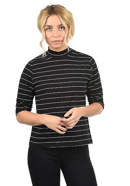 338c7423a8bc81 Only Anne Maglia Maglie A Maniche Lunghe da Donna con Collo Alto:  Amazon.it: Abbigliamento