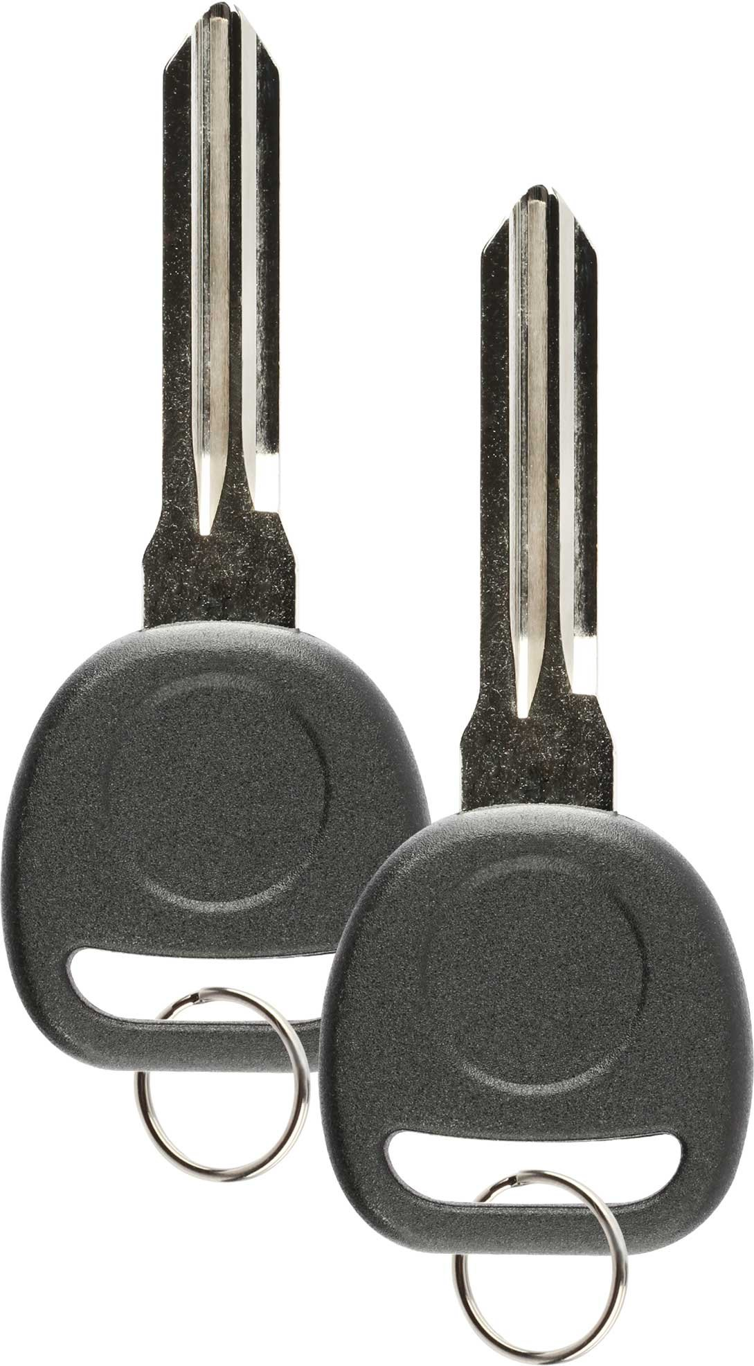 Discount Keyless Replacement Ignition Transponder Uncut Key Compatible with ID 46 Circle + (2 Pack)