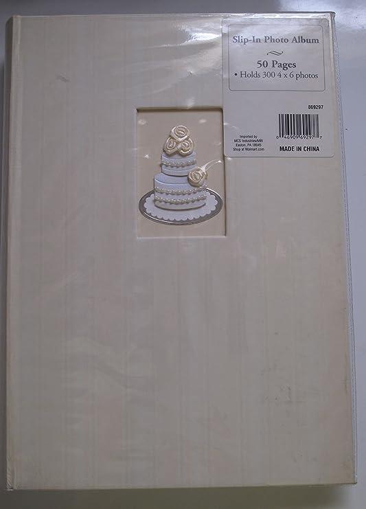 Bound Wedding Slip In Photo Album 300 4x6 Photos Home Kitchen Amazon Com