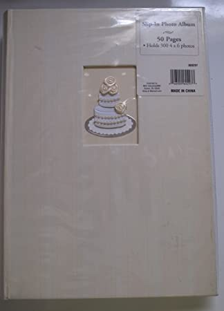 Amazoncom Bound Wedding Slip In Photo Album 300 4x6 Photos Home