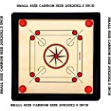 """99Dotcom Carrom Board With Coins And Striker Carrom Size (Small) 21""""X21""""X2.5"""" Inches"""