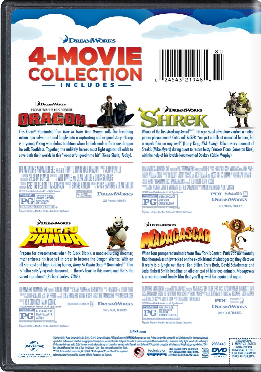 Amazon com: DreamWorks 4-Movie Collection (How to Train Your