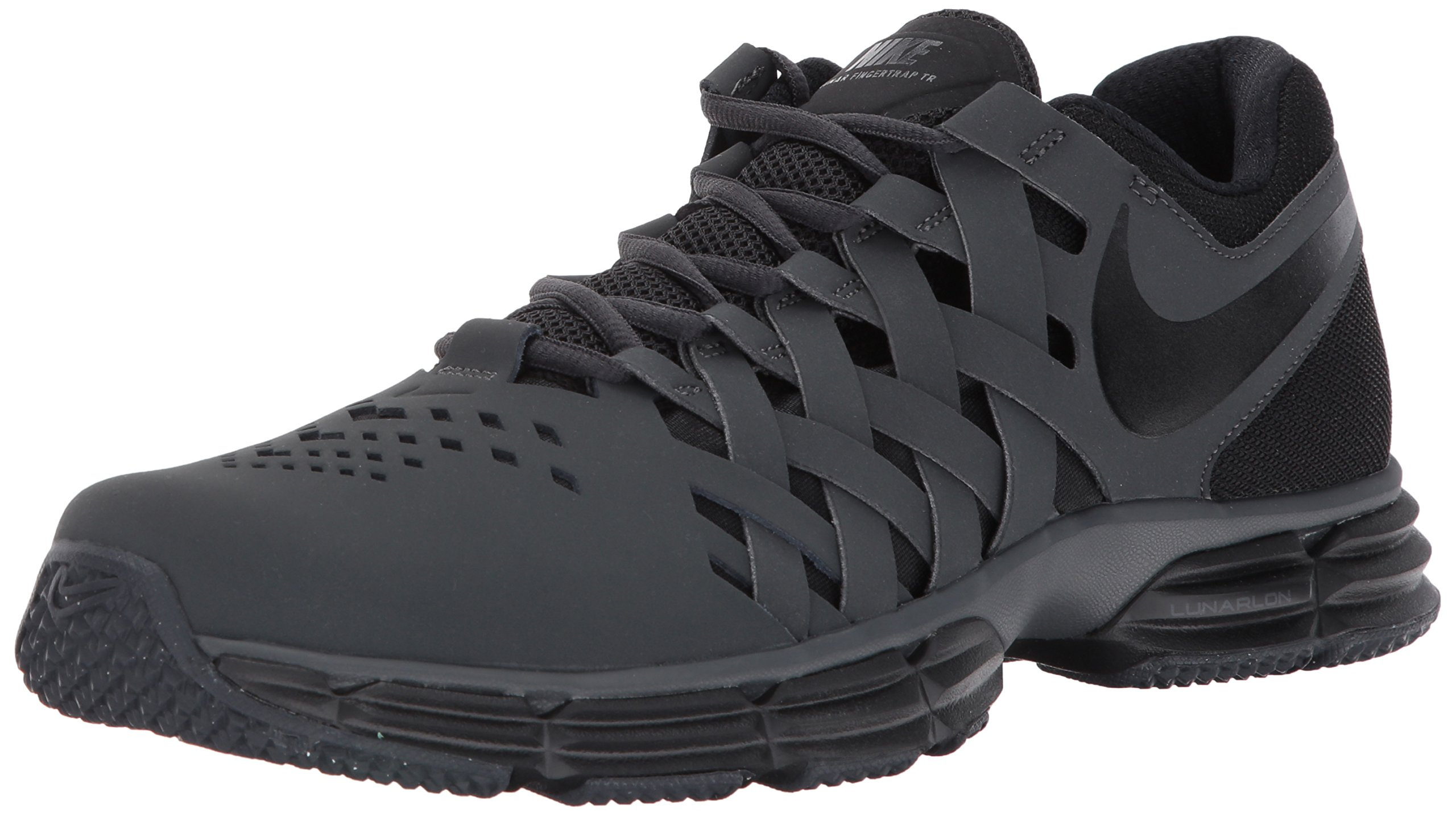 Nike Men's Lunar Fingertrap Cross Trainer, Anthracite/Black, 6.5 Regular US