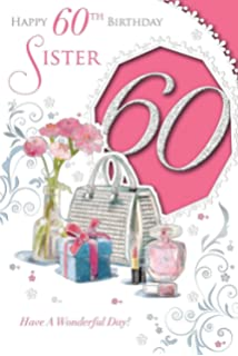For a special daughter on your 60th birthday amazon office xpress yourself sister 60 today medium sized style birthday card bookmarktalkfo Choice Image