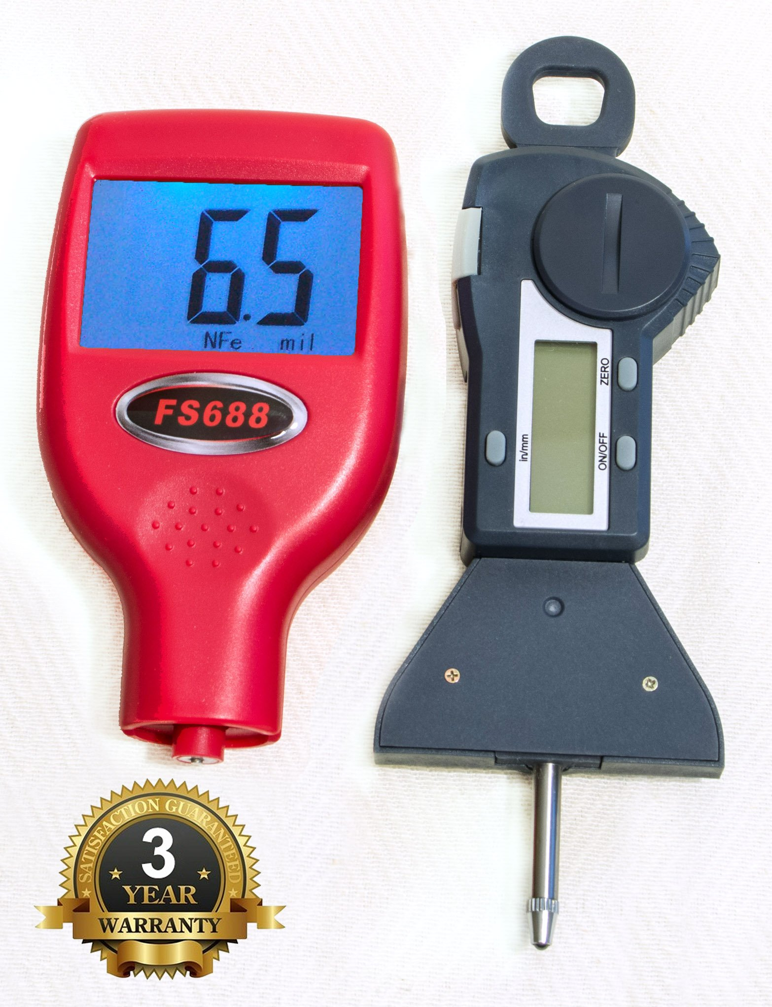 FenderSplendor FS688 Paint Meter with Digital Tire Gage, 15000 Sold. Warrantied in the USA . 3 Year Exchange Warranty. Avoid $3000 Losses by Missing Paintwork. by FenderSplendor