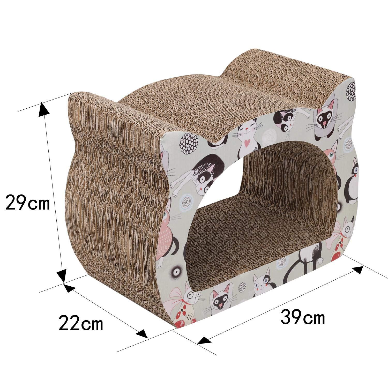 Nobleza - Rascador para Gatos de cartón. Soporte de Descanso con Forma de Gato con Catnip.: Amazon.es: Productos para mascotas