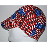 Comeaux Caps Reversible Welding Cap Stars & Stripes Size 7-3/4