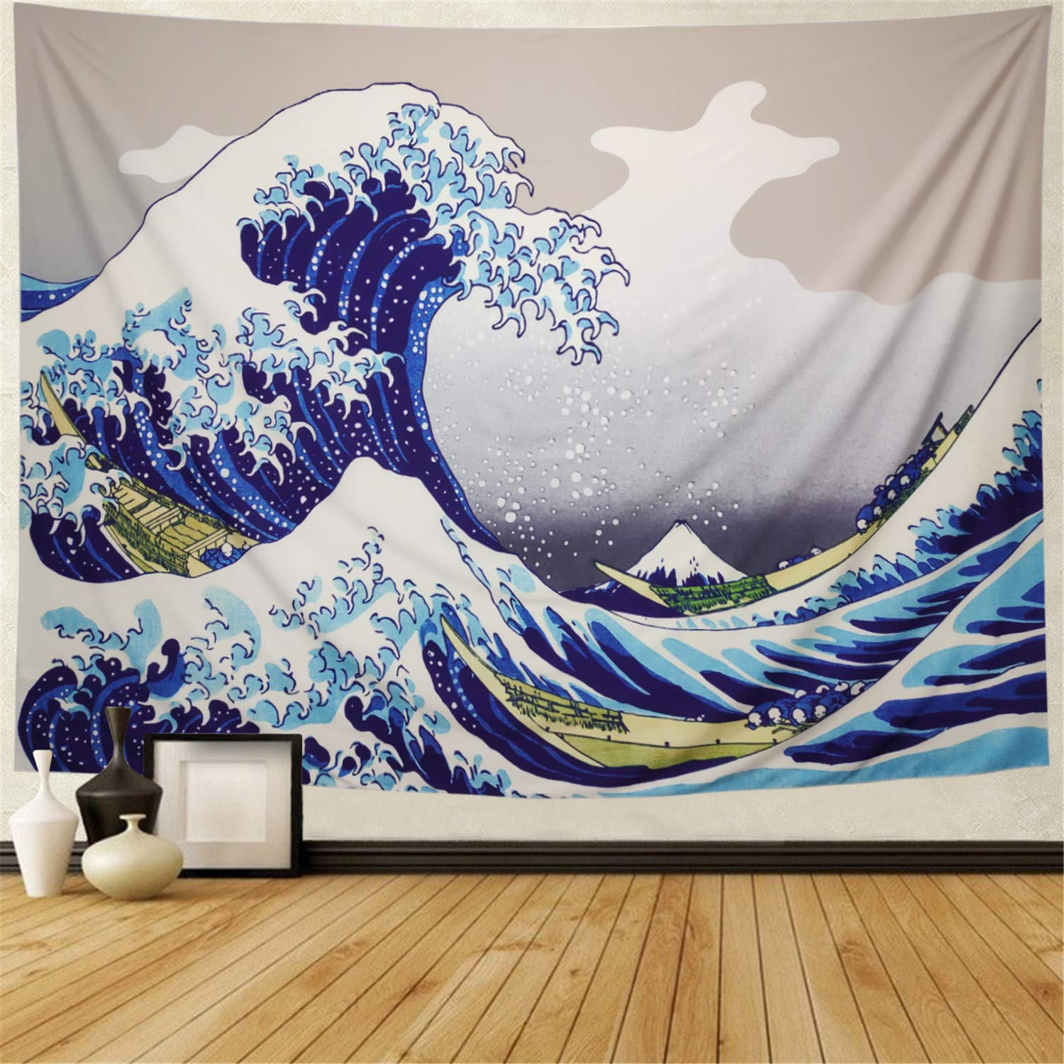 Lahashoker Tapestry Wall Tapestry The Great Wave Off Kanagawa Wall Hanging Tapestries Thirty-six Views of Mount Fuji Tapestry Ukiyo-e Print Japanese Art Tapestry for Living Room Bedroom Dorm Decor