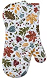 Woodland Leaves Fall Colors Cotton Kitchen Oven Mitt 13 Inch Kay Dee