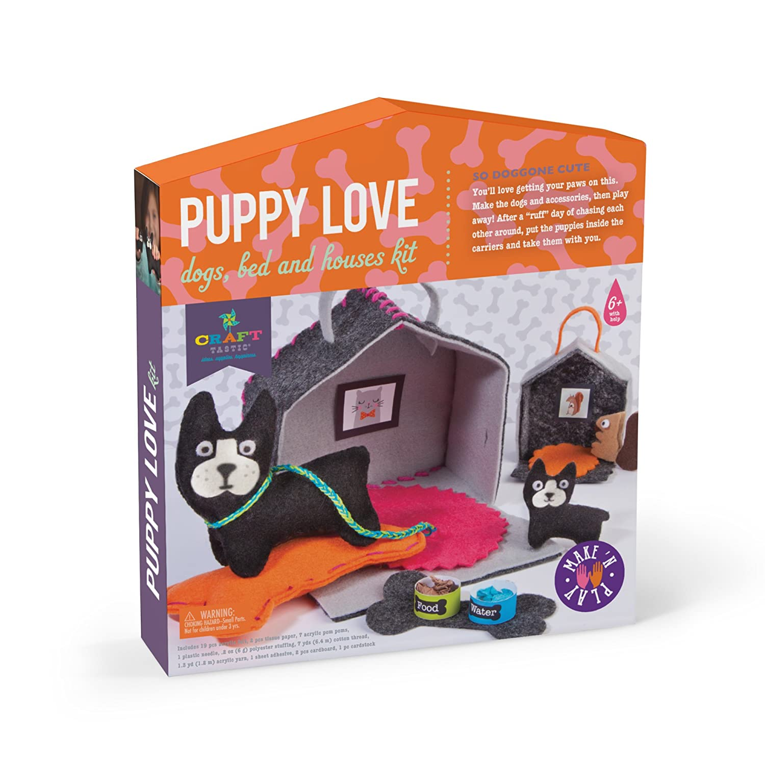 59eb8cf612c5 Amazon.com  Craft-tastic – Puppy Love – Make and Play Kit Includes Dog and  Puppy-Themed Craft Projects  Toys   Games