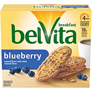 belVita Breakfast Biscuits, Blueberry Flavor, 5 Packs (4 Biscuits Per Pack)