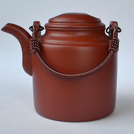 yixing teapot chinese YIXING zisha clay copper girder barrel pu/'er tea pots